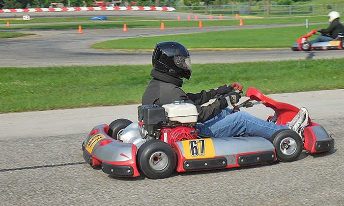 Michiana Raceway Park - Greene: Grand Prix Go-Kart Racing for One or Two at Michiana Raceway Park (Up to 44% Off). Four Options Available.