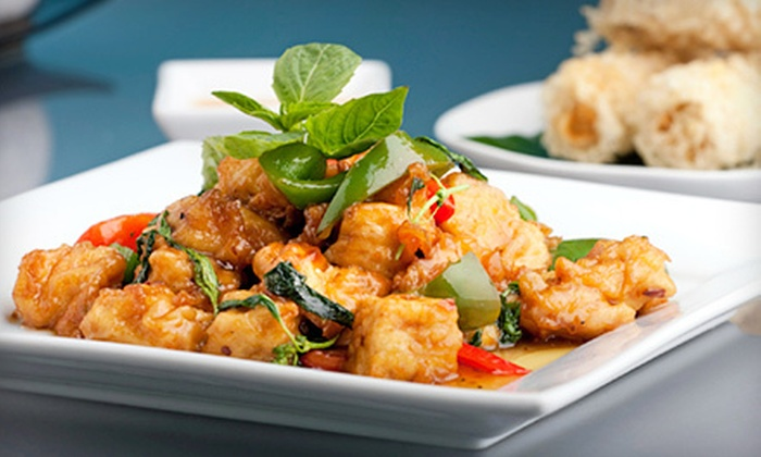 Thai Sweet Basil - Northdale: $12 for $25 Worth of Thai Cuisine and Drinks at Thai Sweet Basil