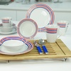 12-Piece Striped Dinnerware Set