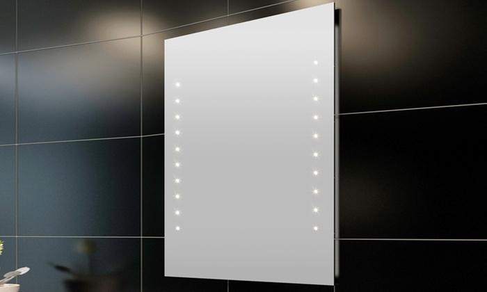 Specchio da bagno con luci led groupon goods - Specchio con luci ...