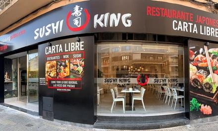 Menú de sushi para 2 con entrantes y 34 piezas de sushi en Sushi King General Riera (con 73% de descuento)