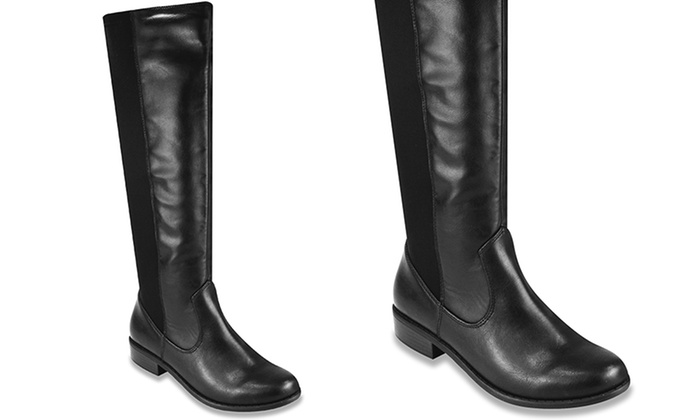 Rampage Women's Indie Stretch Riding Boot (Sizes 8, 8.5, 9) | Groupon