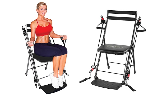 chair gym total body workout groupon