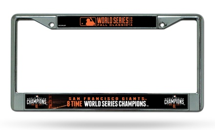 San Francisco Giants 2014 World Series Champions License-Plate Frame