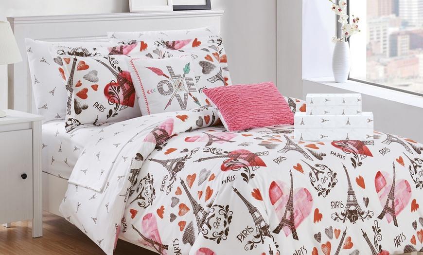New York Travel Themed Comforter Set, Travel Themed Twin Bedding