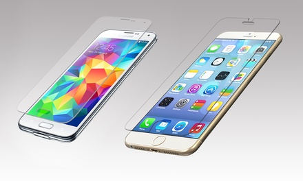 Protective Tempered Glass Screen Covers for iPhone and Samsung Phones