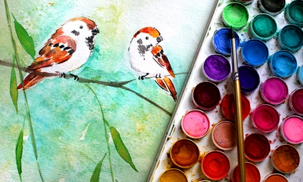 BYOB Painting Class or Four Drawing-Technique Classes at Houston Art Lessons (Up to 49% Off)