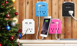 Aduro 2-Outlet USB Surge Protector