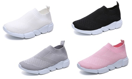 Mesh Knitted Trainers