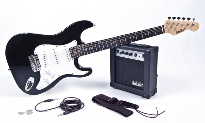 electric guitar kit with amp groupon goods. Black Bedroom Furniture Sets. Home Design Ideas