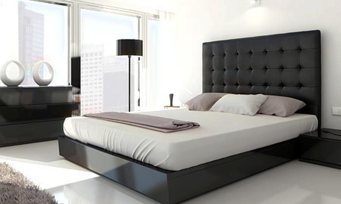 t te de lit capitonn e groupon shopping. Black Bedroom Furniture Sets. Home Design Ideas