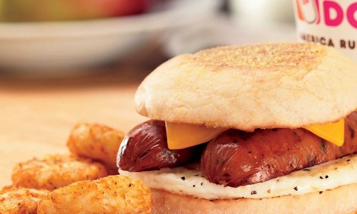 Dunkin' Donuts: $5 for a $10 Dunkin' Card for Donuts, Coffee, and Breakfast Fare at Dunkin' Donuts