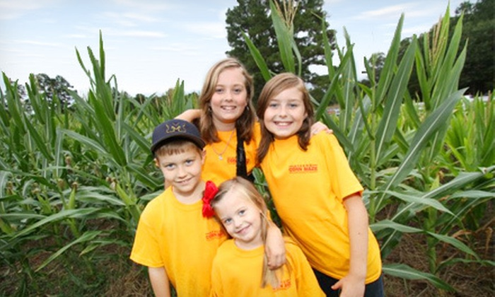Athens Corn Maze - Athens-Clarke County unified government (balance): Visit to Corn Maze, Petting Zoo, Kids' Playland, and a Hayride for Two, Four, or Six at Athens Corn Maze (Up to 60% Off)