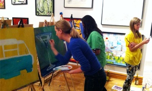 Ian Sherwin Gallery: BYOB Black Light Painting Class for 1, 2, 4, 8, or 18 at Ian Sherwin Gallery (Up to 70% Off)