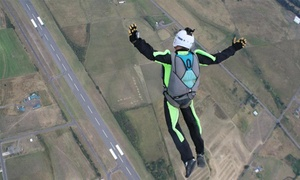 Skydive! Toledo: $125 for a Static-Line Skydiving Session with a First-Jump Course from Skydive! Toledo ($209 Value)