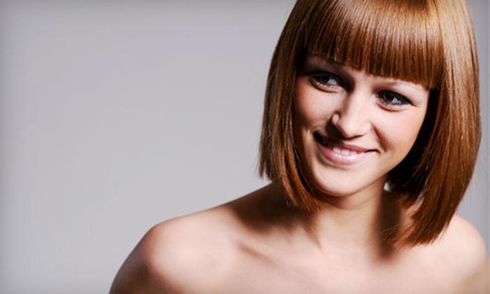 Symetry Hair Design Studio - Carman: Mani-Pedi or Haircut Package at Symetry Hair Design Studio in Schenectady (Up to 67% Off)