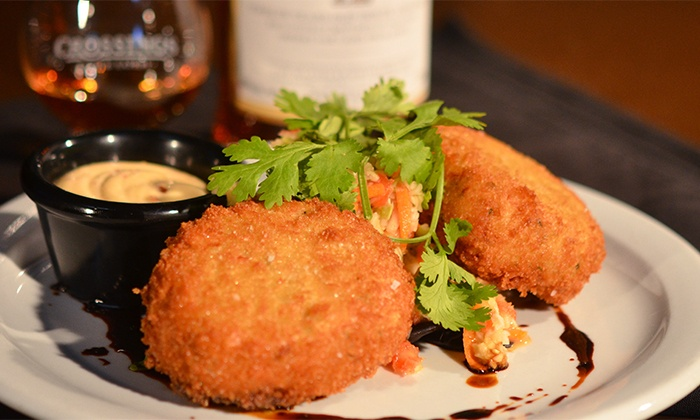 Crossings Pub & Eatery - Hyde Park Location: C$15 for C$30 Worth of Pub Food at Crossings Pub & Eatery Hyde Park