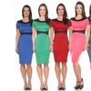 Women's Color-Blocked Sheath Dress