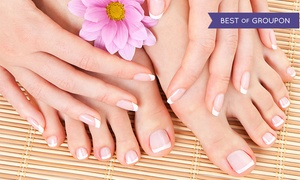 Chateau Nails Spa & Beauty Salon: One or Two Classic Mani-Pedis at Chateau Nails Spa & Beauty Salon (Up to 54% Off)
