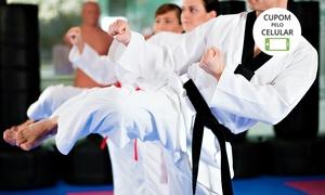 Black Belt Club: Black Belt Club – Barueri:1, 2 ou 3 meses de muay thai, boxe, kickboxing ou hapkido