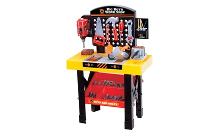Big Boy's Work Shop 54-Piece Tool Bench Set