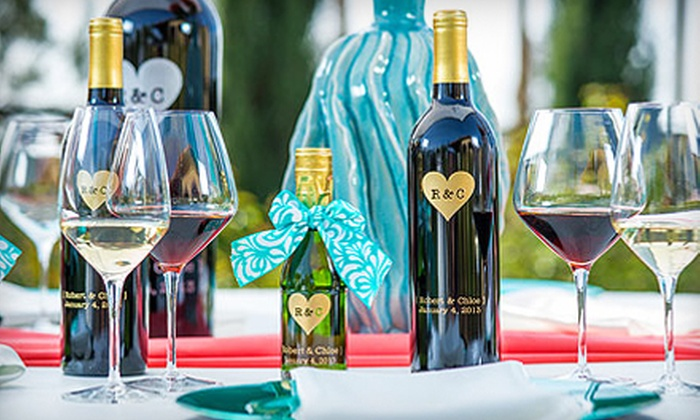 Celebration Cellars at Miramonte Winery: One Custom-Engraved Bottle or One Case of 12 Custom-Engraved Bottles from Miramonte Winery (Up to 51% Off)