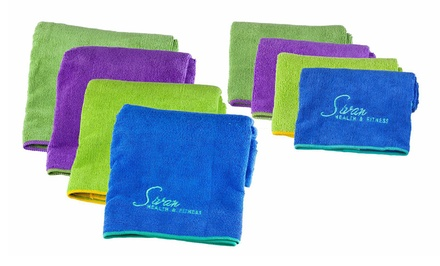 Sivian Health and Fitness 2-Piece Yoga Towel Set