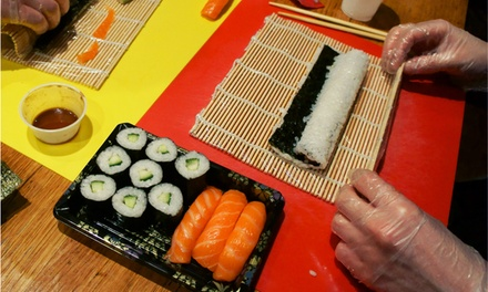 TwoHour Sushi Class with Rolling Mat for One or Two at Suzu Japanese Tapas Bar