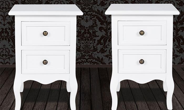 1 ou 2 tables de chevet groupon shopping. Black Bedroom Furniture Sets. Home Design Ideas
