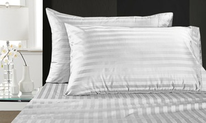 Addy Home 1,000-Thread-Count Egyptian Cotton Damask Stripe Sheet Sets