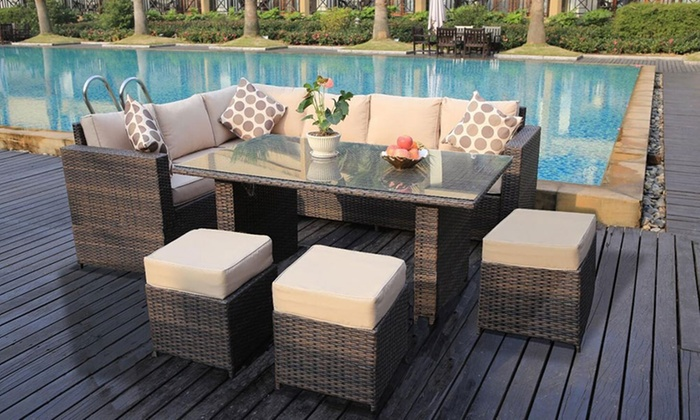 rattan-effect garden furniture