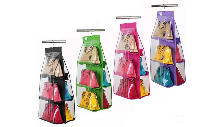 Think Global General Trading - Merchandising (AE): Handbag and Shoes Hanging Storage Holder in Choice of Colour for AED 49 (67% Off)