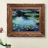 Claude Monet Framed Hand-Painted Oil Reproductions on Canvas