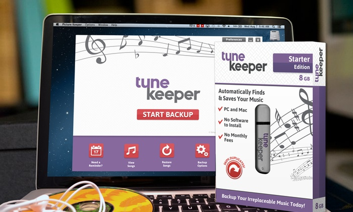 Tune Keeper: USB Music Backup Drive From Tune Keeper. 3 Size Options Available. (Up to 70% Off)