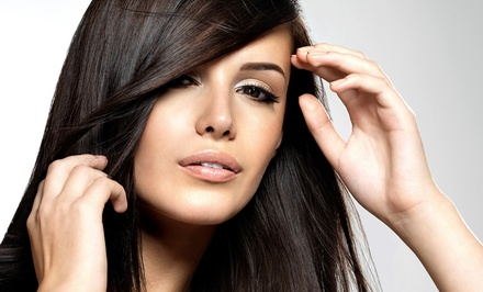 Cut-and-Condition Package with Optional Color; or Brazilian Blowout at The Hair Studio & Day Spa (Up to 51% Off)