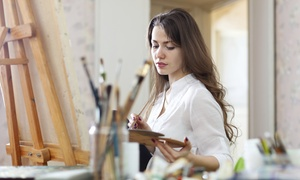 Mini Monet: Two-Hour Canvas- or Wineglass-Painting Class for Two or Four at Mini Monet (Up to 53% Off)