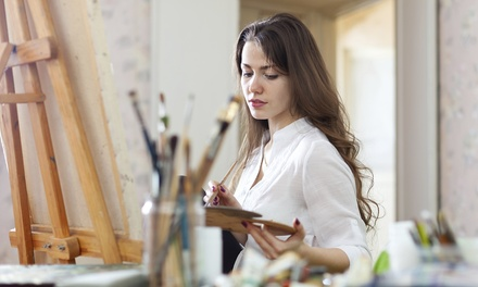 Two-Hour Canvas- or Wineglass-Painting Class for Two or Four at Mini Monet (Up to 53% Off)