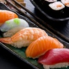 $7 Off Hungry Samurai Salmon Plate with 4 Piece Crunch Role, Salad and Rice