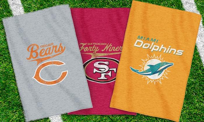 NFL Sweatshirt Throw Blankets: NFL Sweatshirt Throw Blanket. Multiple Teams Available.