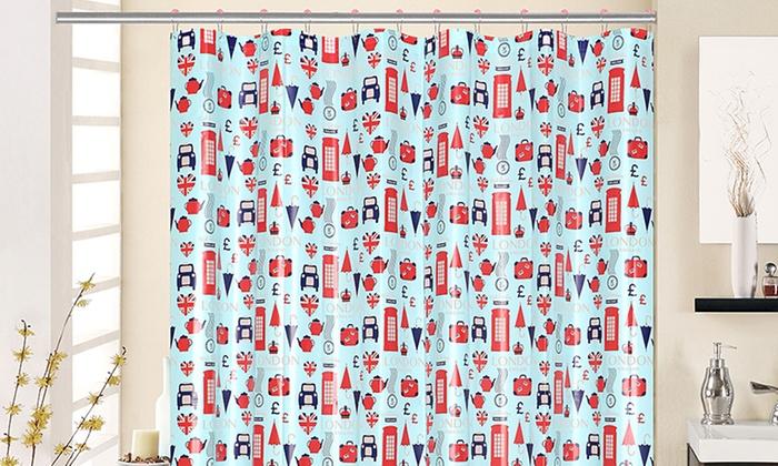 Shower Curtain Set (13pc.) | Groupon Goods