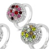 Colored Cubic Zirconia Cocktail Rings