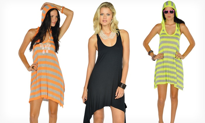 Lagaci Racerback and Hooded Dresses: $19.99 for a Lagaci Racerback or Hooded Dress ($54.95 List Price). Multiple Options Available. Free Shipping & Returns.