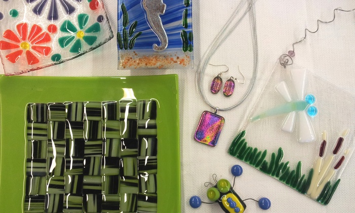 Creations Unique - NOTO Art District: Fused-Glass Workshop for One or Two at Creations Unique Studio (Up to 52% Off)