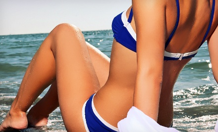 10 or 20 UV-Tanning Sessions or One, Three, or Six Custom Spray Tans at Celebrations Salon (Up to 72% Off)