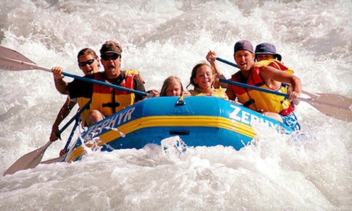 Zephyr Whitewater Expeditions - Multiple Locations: $52 for Half-Day Rafting Trip from Zephyr Whitewater Expeditions in Columbia ($105 Value)