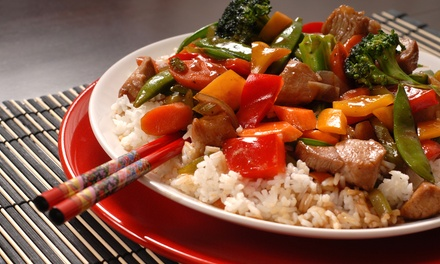 Chinese Food at May Garden Restaurant (Up to 42% Off). Two Options and Three Locations Available.