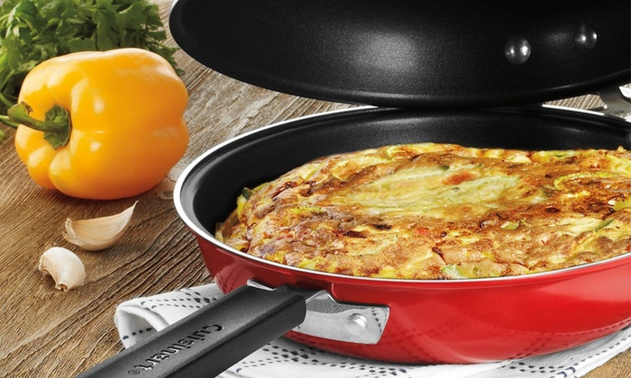 "10"" Red Double Omelet Pan: Cuisinart 10"" Red Double Omelet Pan. Free Returns."