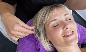 Blossom Threading and Spa: Eyebrow or Full Face Threading Sessions at Blossom Threading and Spa (Up to 51% Off). Three Options Available