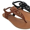 Olivia Miller Catania Women's Studded Buckle Sandals