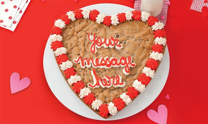 Mrs. Fields - Multiple Locations: Half-Sheet Cookie Cake, One Dozen Cookies, or a Personalized 14-Inch Heart Cake at Mrs. Fields (Up to 50%)